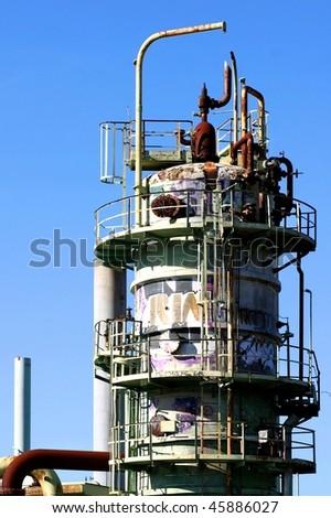 Old oil refinery in Venture near Ojai - stock photo