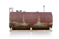 Old oil rust tank.