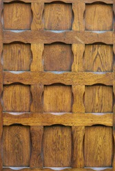 Old oiled wood door texture.