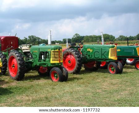 Old Oliver Farm Tractors at a Show