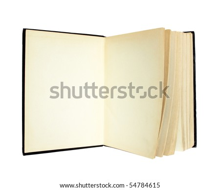 Old open book