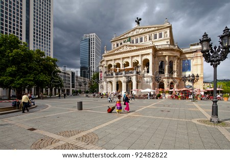 Old opera and theater in Frankfurt
