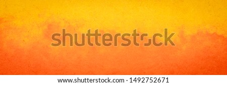 old orange and yellow background paper texture, panoramic format