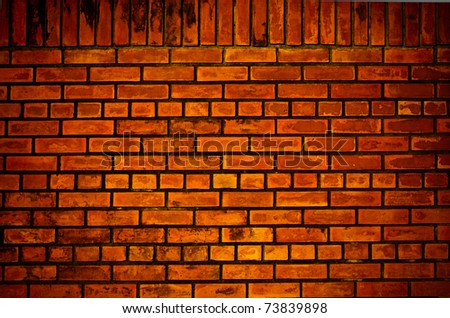 Old orange brick wall pattern texture