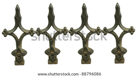 old ornamental finial on a white background
