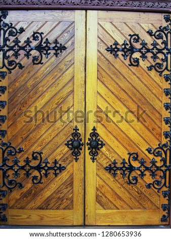 Old ornate doors