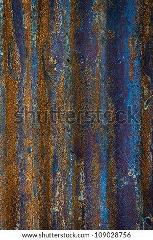 Old oxidized colorful textured metal