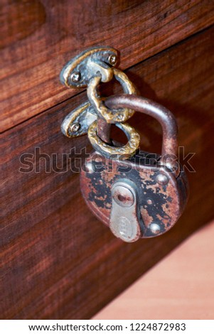 Old Padlock Chest #1224872983