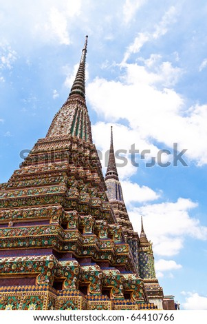 old pagoda in thai temple