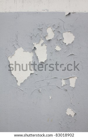 old paint and wall, cracked wall