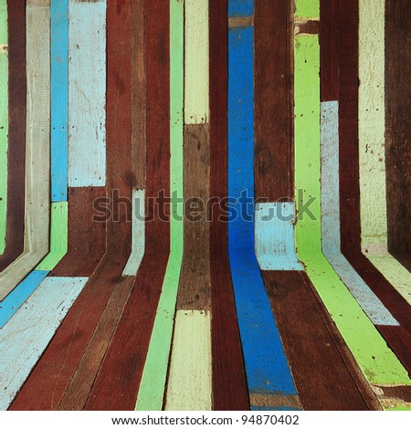 Old painted color wood room background