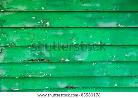 Old painted green wood - texture, backgroun