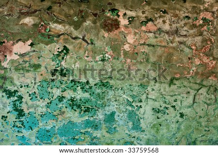 Old painted messy wall with cracks background