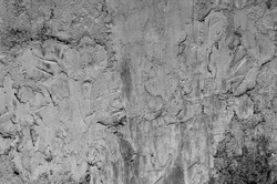 Old painted wall for background. Uneven grout texture. Rough wall surface.