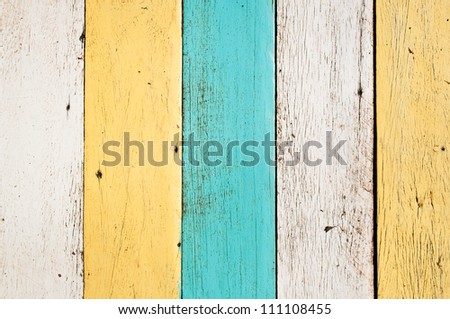 Old painted wood planks, vertical