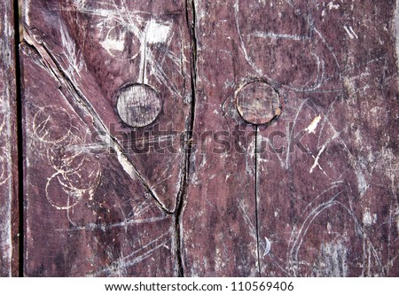 old painted wooden board background and texture