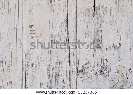 Old painted wooden surface. The paint is faded and cracked, you can see small cracks. Uniform illumination and a wide tonal range, sharpness is not increased. For any designer's purposes
