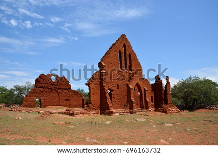 old palapye  ruin of london...