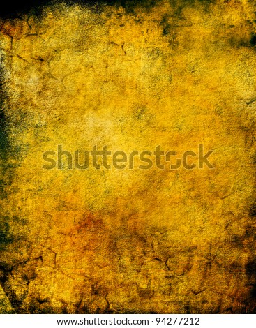 Old paper background, chapped canvas  made as burned paper-like texture. Perfect for pirate maps, rustic invites, decorations, wanted posters or antique pages