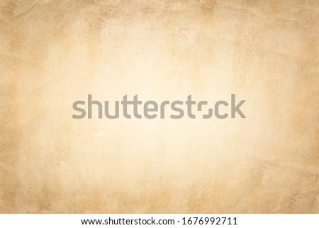 Old paper background. Old crumpled paper texture vintage retro newspaper empty blank space page with grunge stain line pattern for text creative, backdrop, wallpaper and any design Stock photo ©