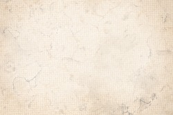 old paper background or canvas fabric texture beige background, subtle grid pattern