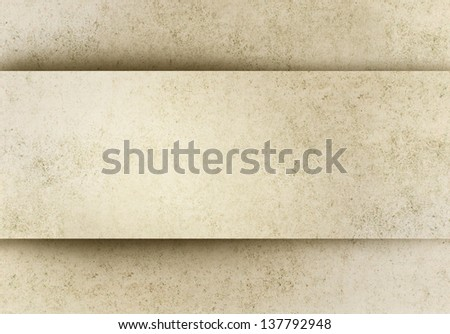 Old paper background with banner in relief