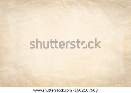 Old paper background with crumpled paper texture vintage retro newspaper empty blank space page with grunge stain line pattern for text creative, backdrop, wallpaper and any design