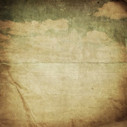 old paper background with delicate grunge texture and blue sky