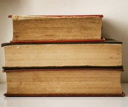 old paper books and encyclopedias