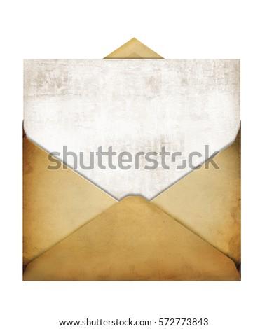 old paper envelope empty open...