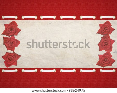 Old paper Framework. A beautiful textile background, insert your text.