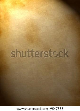 Old paper in light (background, wallpaper, flyer...)