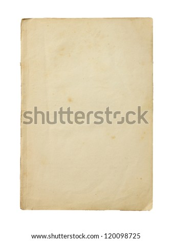 Old paper isolated on a white background. - stock photo