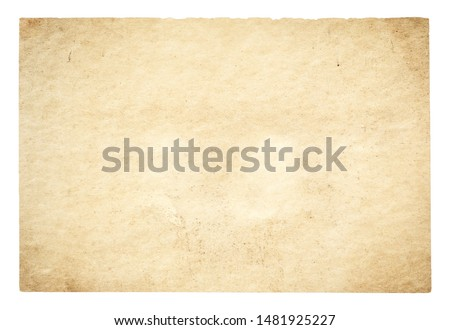 old paper isolated on white background with clipping path #1481925227