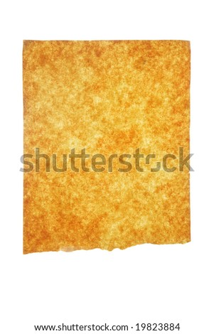 Old paper isolated over white background