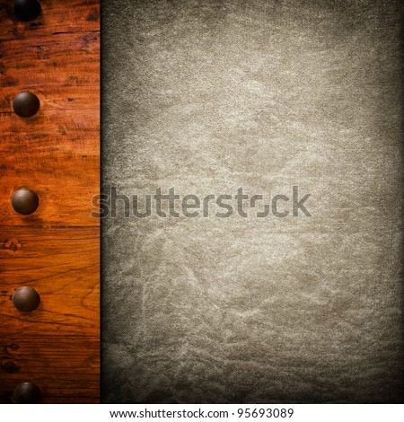 old paper on wood board - stock photo