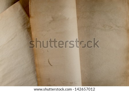 Old paper pages grunge background, Old Book, same de-focus part of pages