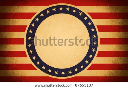 old paper red white and blue us banner flag