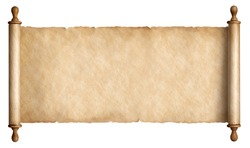 old paper scroll or parchment isolated