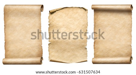 old paper scrolls or parchments ...