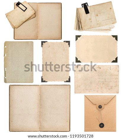 Free Photos Old Cardboard Photo Cards Frames And Corners Isolated