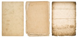 Old paper sheets. Used stained cardboard texture background