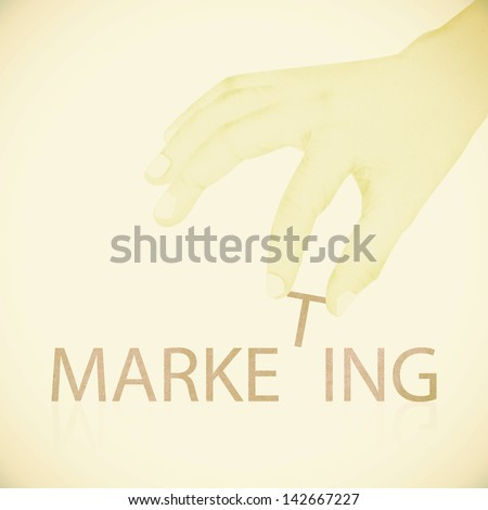 Old Paper texture ,Hand made marketing word