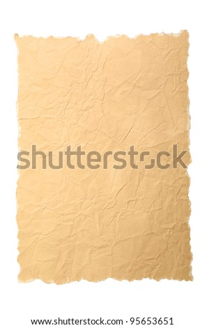 old paper texture isolated on a white background