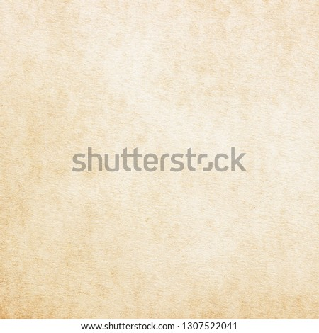 Old Paper texture. vintage paper background or texture; brown paper texture #1307522041