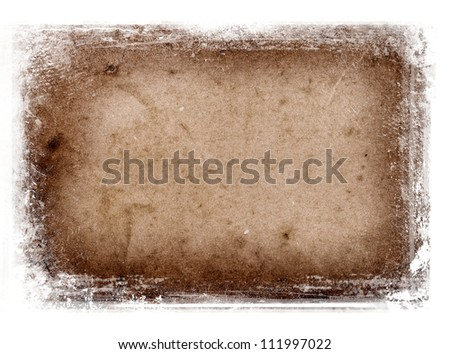 Old paper texture with grungy messy border