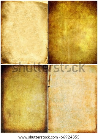 Old paper textures set - stock photo
