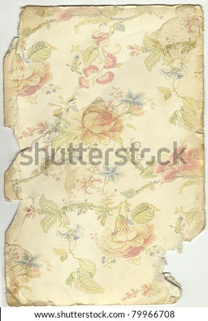 old paper with a decorative ornament of flowers