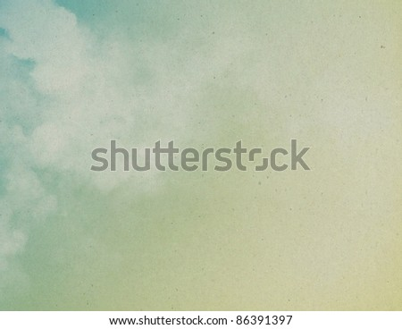 Old paper with dreamy clouds