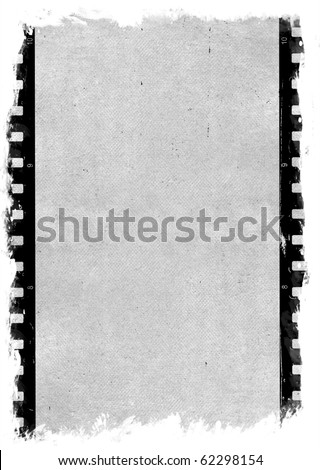 Old paper with film strip